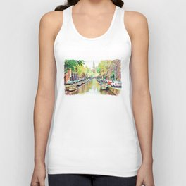 Amsterdam Canal 2 Unisex Tank Top