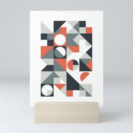 Mid Century Geometric 04 Mini Art Print