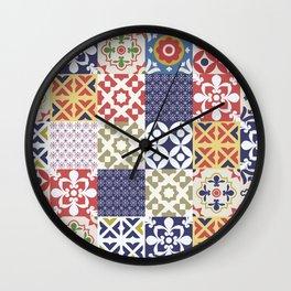 Portuguese pattern color Wall Clock
