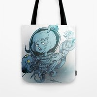 hentai Tote Bags featuring I've Seen Enough Hentai To Know Where This Is Going by Thecansone