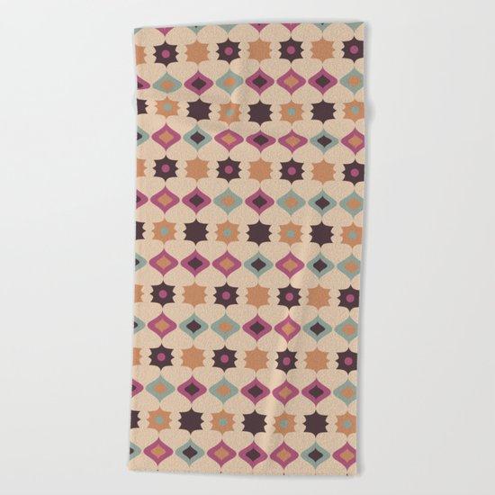 Retro pattern . Pastel . Beach Towel