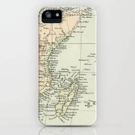 Vintage Map of Africa iPhone Case