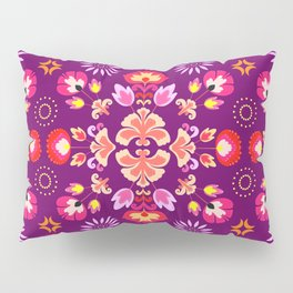 Fiesta Folk Purple #society6 #folk Pillow Sham