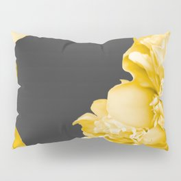 Yellow Flowers On A Dark Background #decor #society #homedecor Pillow Sham