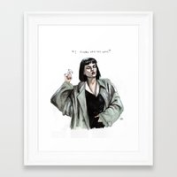 mia wallace Framed Art Prints featuring Mia wallace  by Lucas David