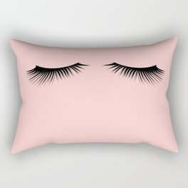 pink eyelashes Rectangular Pillow