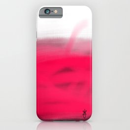 Pink Fields Abstract Painting - Dreaming in Nature iPhone Case