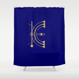Sacred Geometry Letter K Shower Curtain