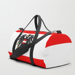 Austrian Flag and Coat of Arms Duffle Bag