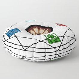 Elemental White Lotus - ATLAS Floor Pillow