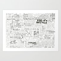 my mad fat diary Art Prints featuring Dear Diary... by girlinplaits