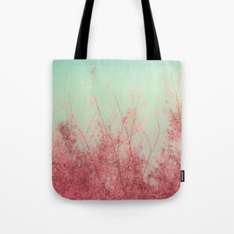 Harmony (Mint Blue Sky, Coral Pink Plants) Tote Bag