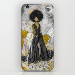 Dear Queen Black and Gold iPhone Skin