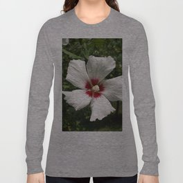 Hibiscus, White Long Sleeve T-shirt