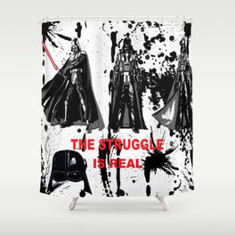 CONFLICT AND STRUGGLE Shower Curtain