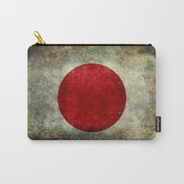 Japanese Flag in grungy retro style Carry-All Pouch