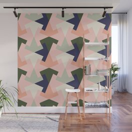 Retro pattern geometric Wall Mural