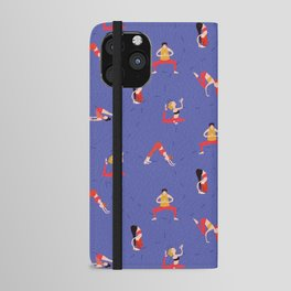 Yoga Girls blue lines iPhone Wallet Case