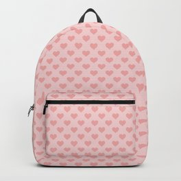 Large Blush Pink Lovehearts on Light Pink Backpack