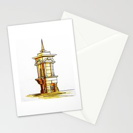 old town . fountain Stationery Cards