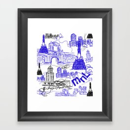Manila Framed Art Print