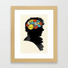 Sherlock Phrenology Framed Art Print