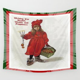 Wishing You Health Wealth and Happiness Greeting Card Wall Tapestry