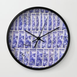 Stamps Texture #3 Wall Clock