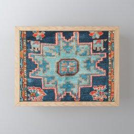 Karabakh  Antique South Caucasus Azerbaijan Rug Print Framed Mini Art Print