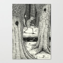 'Through The Forest' Canvas Print