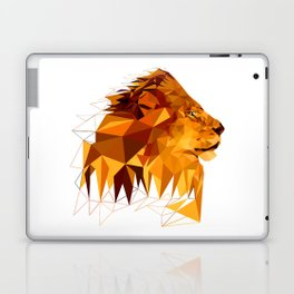 Geometric Lion Wild animals Big cat Low poly art Brown and Yellow Laptop & iPad Skin