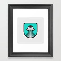 Alien Spacecraft Framed Art Print