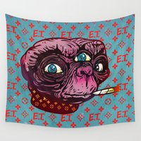 et Wall Tapestries featuring ET Mofo by Beery Method
