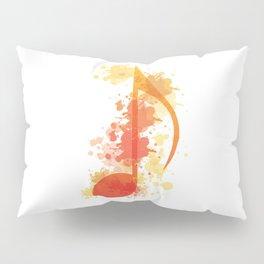 Watercolour Music Note Pillow Sham