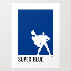 My Superhero 03 SuperBlue Minimal poster Art Print