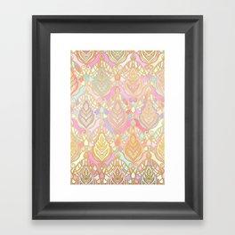 Rosy Opalescent Art Deco Pattern Framed Art Print