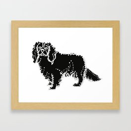 I have Connected the CAVALIER KING CHARLES SPANIEL Doggy Dots! Framed Art Print