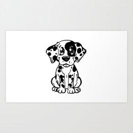 Doggie summer breeds NilseMariely, Diseños que Ladran Art Print