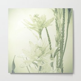 Glass flowers Metal Print