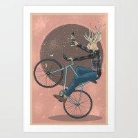 jackalope Art Prints featuring Jackalope by Kelli Shaver