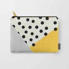 Mod Dots - yellow and Gray Carry-All Pouch