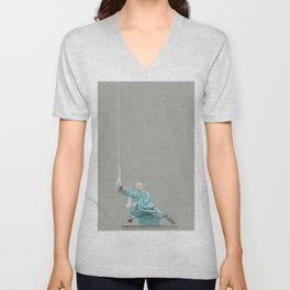 Paths to the waterfall - three - Tai Chi Unisex V-Neck