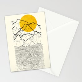 The cliff waves Stationery Cards