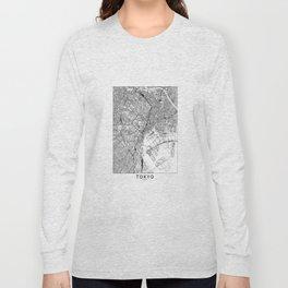 Tokyo White Map Long Sleeve T-shirt
