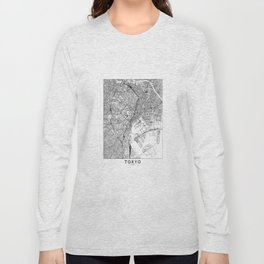 Tokyo White Map Long Sleeve T-shirt