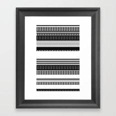 Graphic_Black&white Framed Art Print