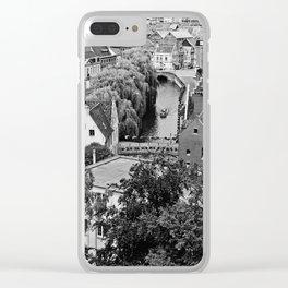 A River Runs Through Ghent Clear iPhone Case