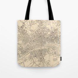 Vintage Map of Glasgow Scotland (1851) Tote Bag