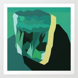 Emerald Gem Art Print