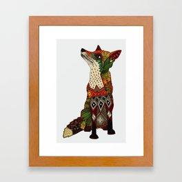 fox love off white Framed Art Print